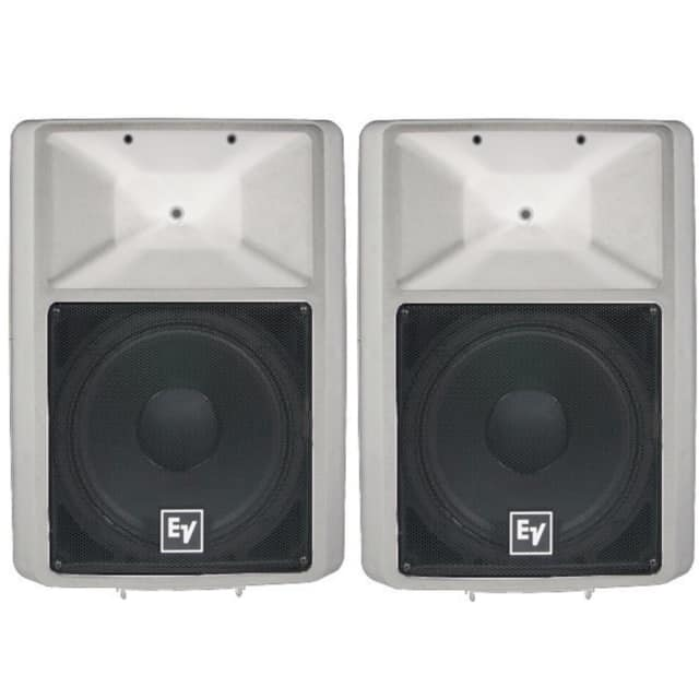 EV SX100+WE House Of Worship White Passive Speaker System Pair image