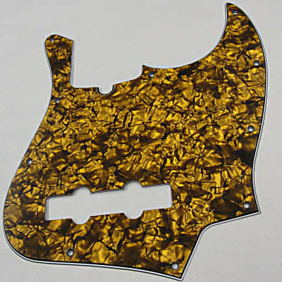 D'Andrea Pro Jazz Bass Pickguard 10 hole made in the USA  Gold Pearl for sale