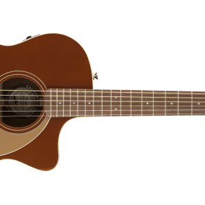 Fender Newporter Player Model Electric Acoustic Guitar in Rustic Copper -SO COOL for sale