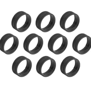 SuperFlex GOLD SFC-BAND-BLACK-10PK Colored Cable ID Rings (10-Pack)