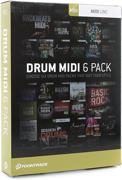 Toontrack Drum MIDI 6-pack - Boxed | GearNuts