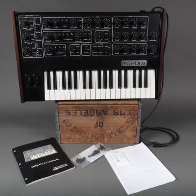 Sequential Circuits Pro One Synthesizer W/ Original Manual *Recently Professionally Serviced*