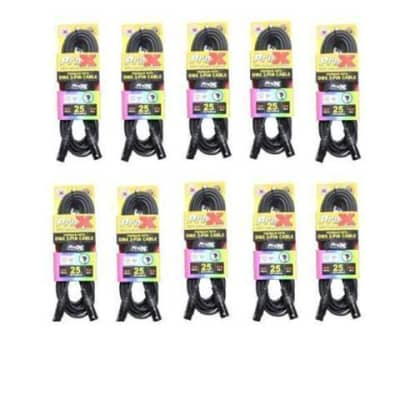 20  Prox 3 Pin DMX 25 ft Premium DJ Lighting Par Light Cables