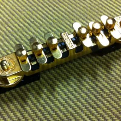 Gretsch® Synchro-Sonic Gold Guitar Bridge~Black Base~0069562000~USA~Brand New
