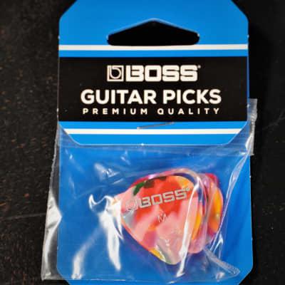 Boss Guitar Picks 12 Pack Medium Mosaic