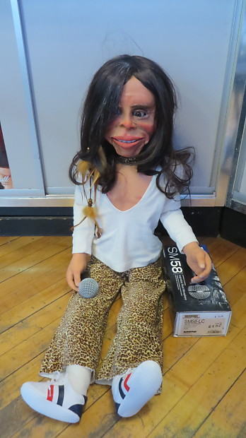 Shure SM58 Microphone w/ Steven Tyler Ventriloquist Dummy One Of A Kind