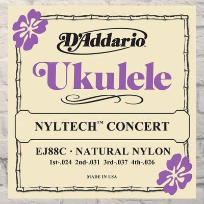 D'Addario EJ88C Nyltech Concert Ukulele Strings 24-26