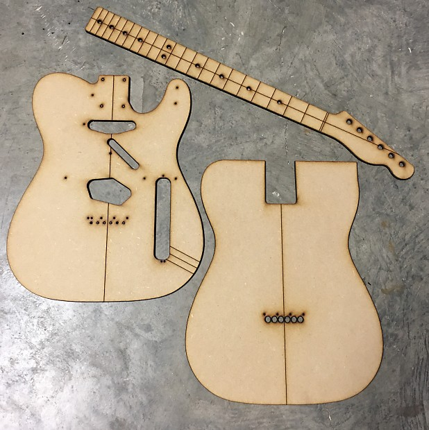 Guitar Building Templates Luthier Router Templates 1957 | Reverb