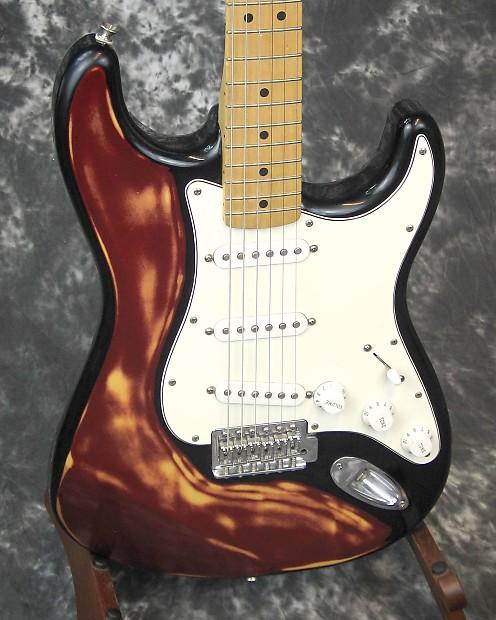 vg used fender standard stratocaster electric guitar reverb. Black Bedroom Furniture Sets. Home Design Ideas
