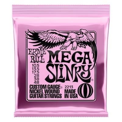 Ernie Ball 2213 Mega Slinky Nickel Wound Electric Guitar Strings 10.5-48 GAUGE