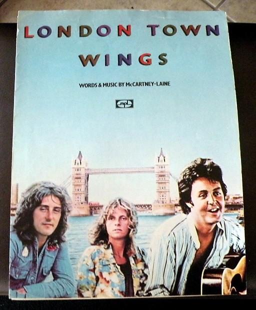 Paul McCartney And Wings Vintage Sheet Music London Town 1978