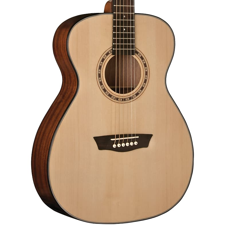 Washburn Apprentice AF5K Folk Acoustic Guitar Natural w/ Hard Case