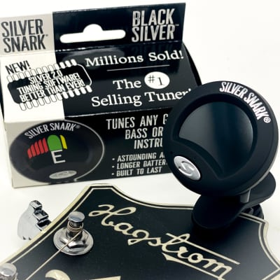 Silver Snark BLACK SILVER - Clip Tuner for All Instruments - NEW Color and 2.0 Software for 2021, In for sale