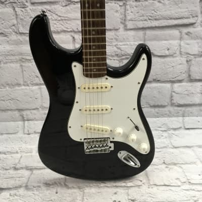Lotus Strat Style Electric Guitar Black for sale
