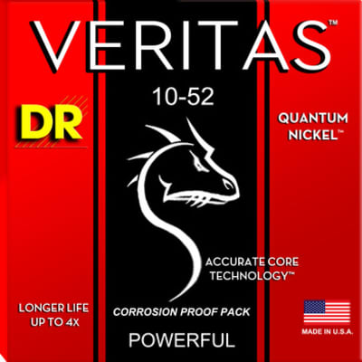 DR VTE-10/52 Veritas Quantum Nickel Guitar Strings, .010 - .052