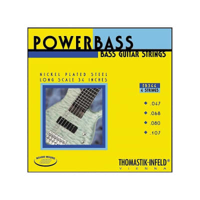 Thomastik-Infeld EB344 PowerBass Magnecore Round-Wound Hexcore Bass Strings - Medium Light (.47 - .107)