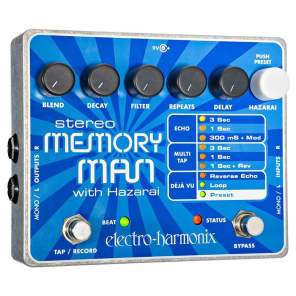 Electro Harmonix Stereo Memory Man With Hazarai Digital Delay/Looper Pedal for sale