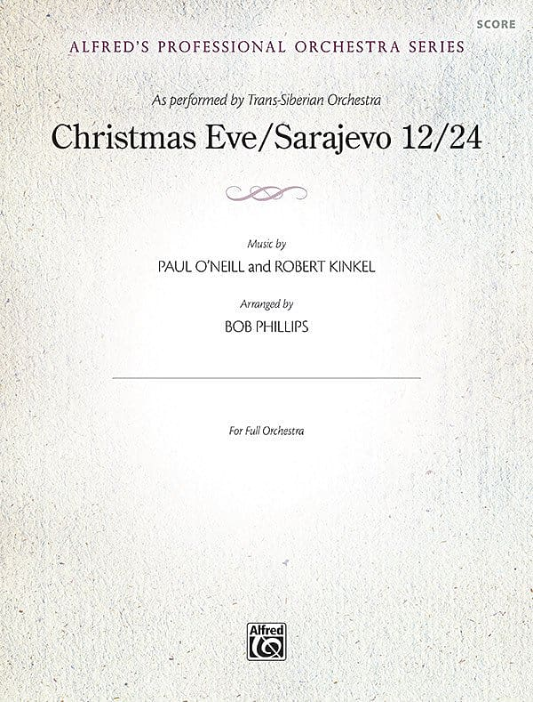 Christmas Eve Sarajevo 12 24 As Performed By Trans