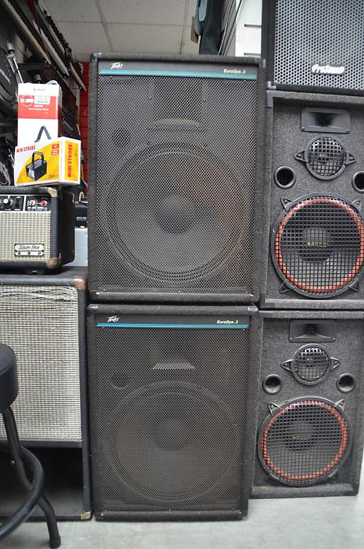 Pair of Peavey Eurosys-3 Passive Speakers