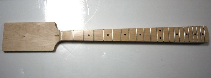 "Eden Medium 32/"" Scale Paddle Bass Neck Right//Lefty Block Inlay"
