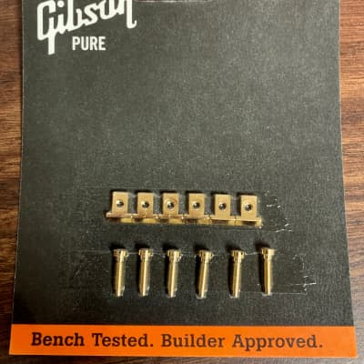 Gibson ABR-1 Bridge Saddles (Gold) for sale