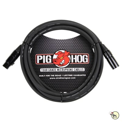 Pig Hog PHM10 8mm Microphone XLR Cable, 10ft