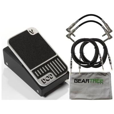 DOD MINIVOL Mini Volume Pedal w/ Geartree Cloth and 4 Cables