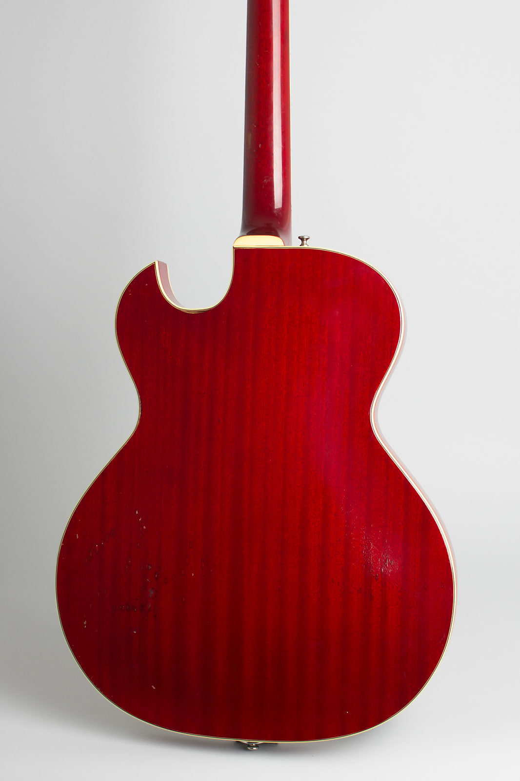 Guild  Starfire III Thinline Hollow Body Electric Guitar (1963), ser. #28831, original black tolex hard shell case.