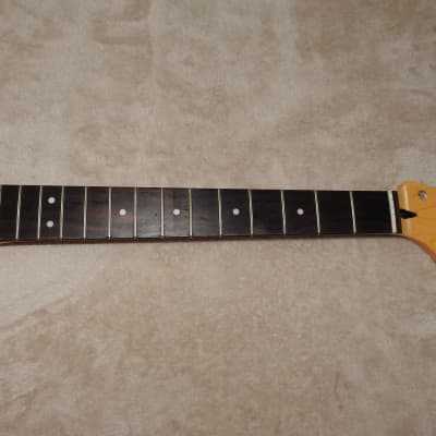 Mighty Mite MM2900VT Rosewood Stratocaster Neck 22 Frets C Profile Vintage Tint Poly Finish NOS #1