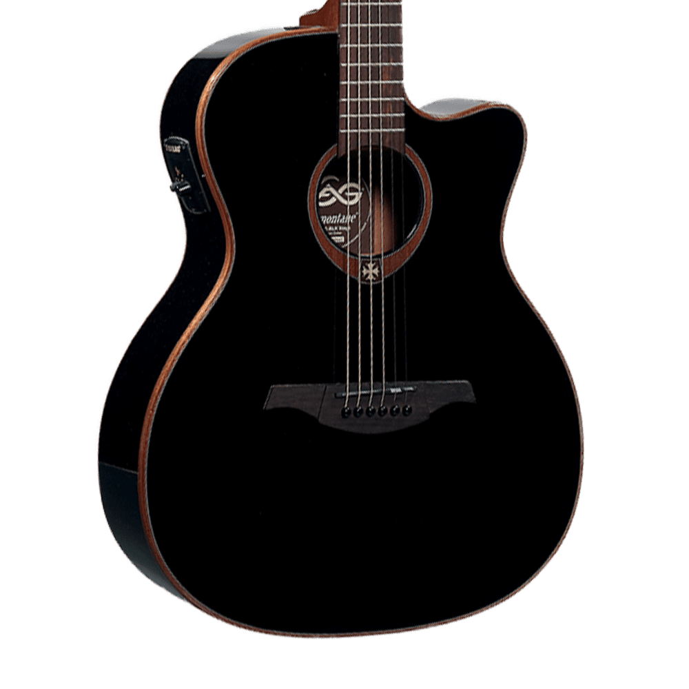 lag t100ace tramontane acoustic electric guitar black reverb. Black Bedroom Furniture Sets. Home Design Ideas