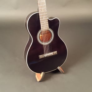 Recording King RP1-16C-TBK Torrefied Red Spruce Top 12-Fret Single-0 with Cutaway Translucent Black