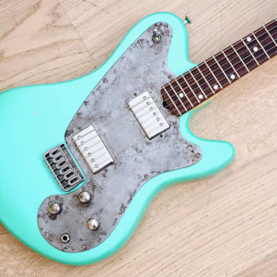M-Tone Counterpunch Surf Green Electric Guitar USA Made w/ Case & Lollar Imperial PAFs, Koll for sale