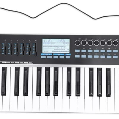 Samson Graphite 49 Key USB MIDI DJ Keyboard Controller w/ Aftertouch/Fader/Pads