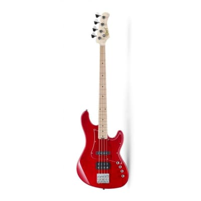 Cort GB74JHTR 4 String GB Series Bass, JH Pickups, Trans Red, New, Free Shipping for sale