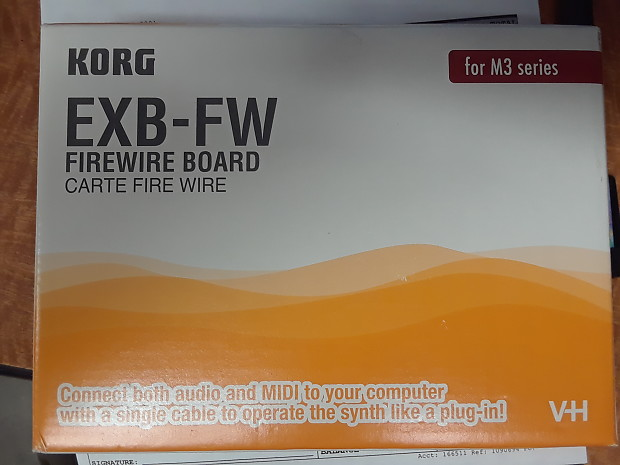 Korg EXB-FW Firewire Expansion Board for M3 Series Synth  RARE