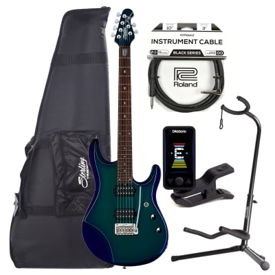 Sterling by Music Man JP Signature Mystic Dream w/Gig Bag w/Guitar Stand, Tuner and 10' Cable Bundle for sale