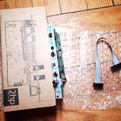 2hp Clk Eurorack clock generator module, silver