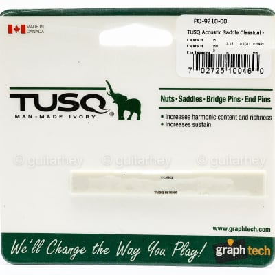 "NEW Graph Tech PQ-9210-00 TUSQ Compensated Classical Saddle 13/32"" Tall"