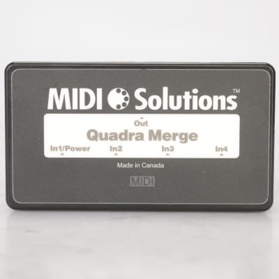 MIDI Solutions Quadra Merge 4-In 1-Out MIDI Message Combiner w/ 4 Cables #38700