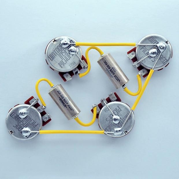 Les Paul ® Type Wiring Harness 550k Centralab Spec VIP Short | Reverb