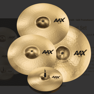 """Sabian AAX Promotional Cymbal Pack with Free Crash - 14"""" Hats 16 & 18"""" Crashes 21"""" Medium Ride"""