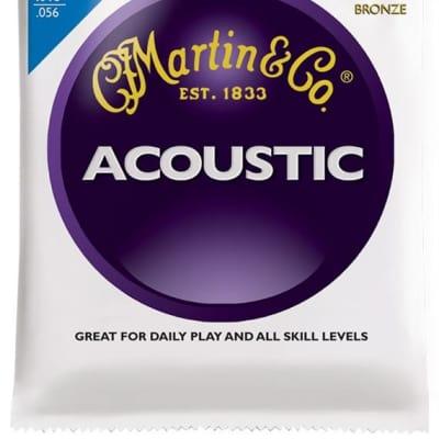Martin 80/20 Bronze Acoustic Guitar Strings, Medium (13 - 56) - Set of 4