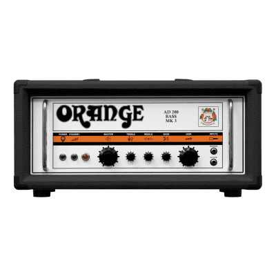Orange AD200B-BK (Black) Bass Guitar Head Amp 200W Amplifier & V-Moda Headphones