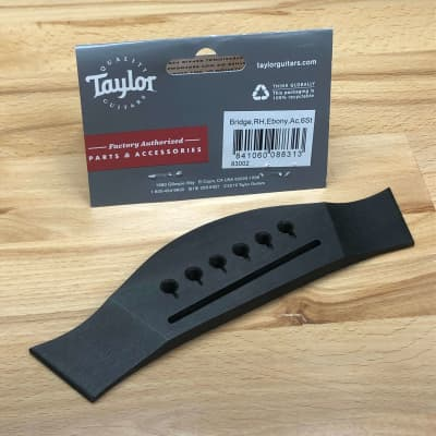 Taylor 83002 Acoustic Guitar Bridge, Ebony
