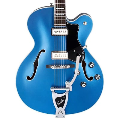 Guild X-175 Manhattan Special Hollow Body Electric Guitar (Malibu Blue) for sale