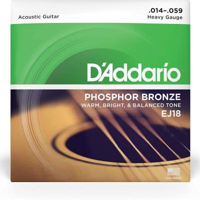 D'Addario EJ18 Phosphor Bronze Acoustic Guitar Strings, Heavy