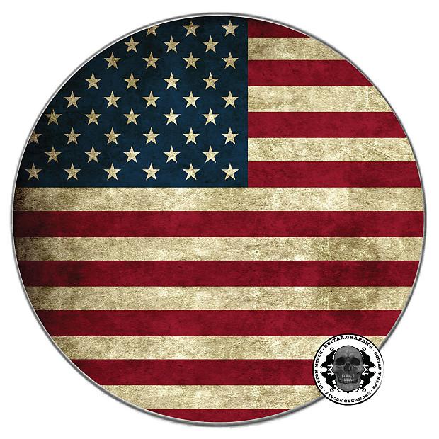 Drum Head Decals American Flag Drum Skin Bass Drum