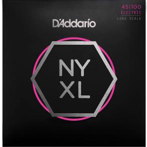 D'Addario NYXL45100 Nickel Wound Bass Guitar Strings Regular Light 45-100 Long Scale