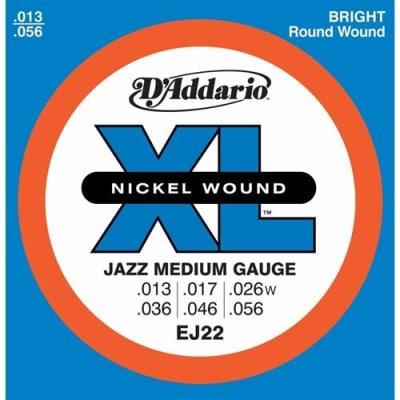 D'Addario EJ22 Nickel Wound Electric Guitar Strings - Jazz Medium 13-56