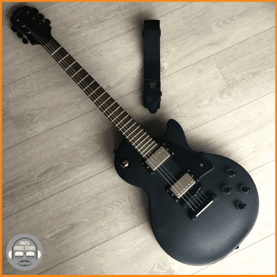 Epiphone Goth Les Paul Studio Pitch Black – New Strings and Setup – 2012 – Very Good Condition for sale